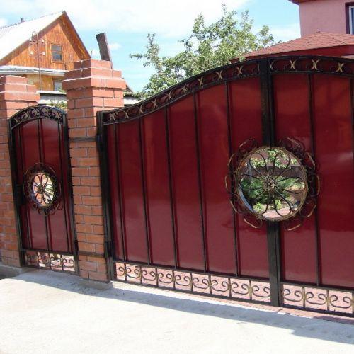 Кованые ворота и калитка - 84.