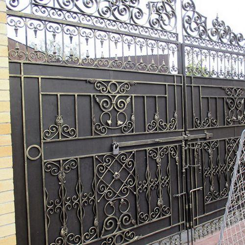 Кованые ворота и калитка - 85.