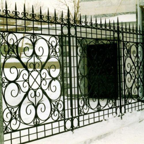 Кованые ворота и калитка - 86.