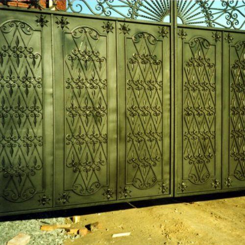 Кованые ворота и калитка - 87.