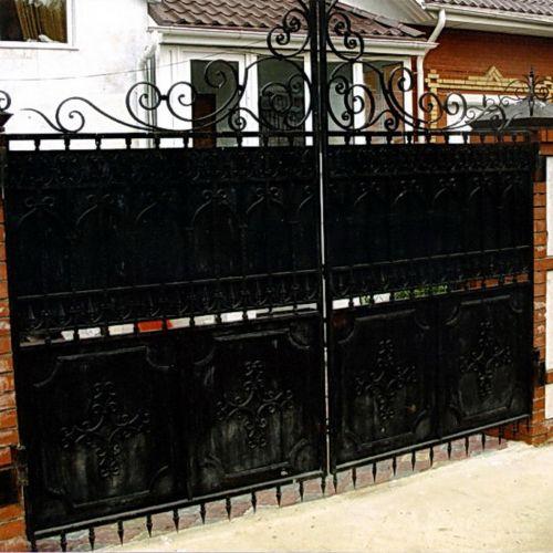 Кованые ворота и калитка - 88.