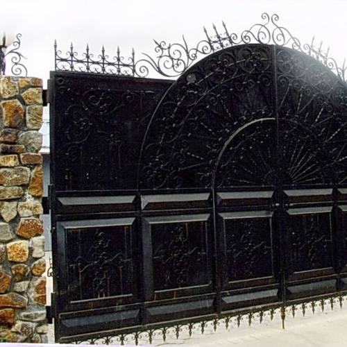 Кованые ворота и калитка - 89.