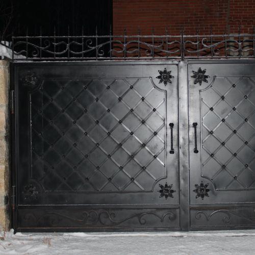 Кованые ворота и калитка - 08.