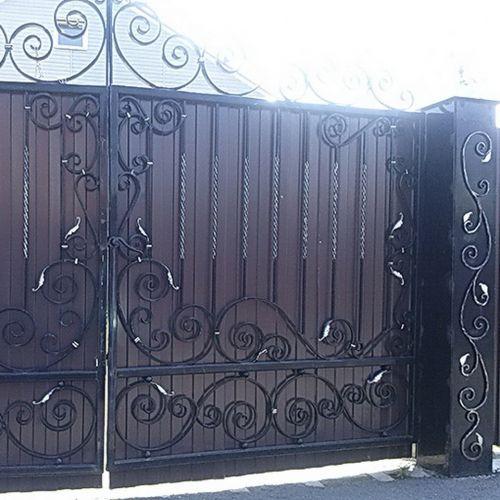 Кованые ворота и калитка - 91.
