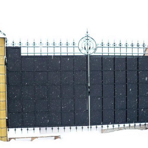 Кованые ворота и калитка - 92.