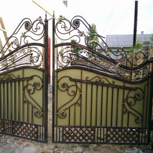 Кованые ворота и калитка - 93.