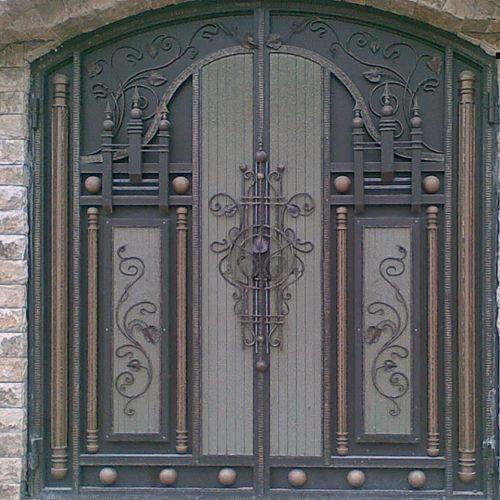 Кованые ворота и калитка - 94.