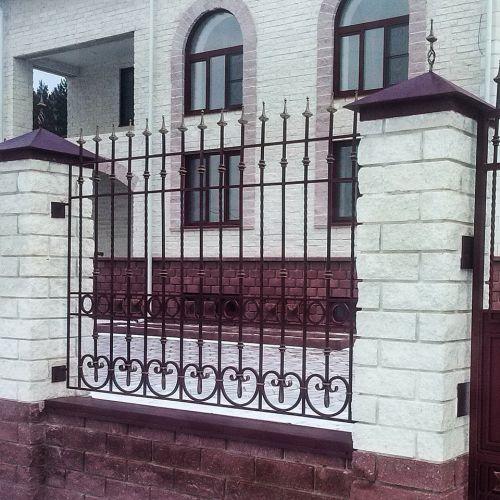 Кованые ворота и калитка - 99.