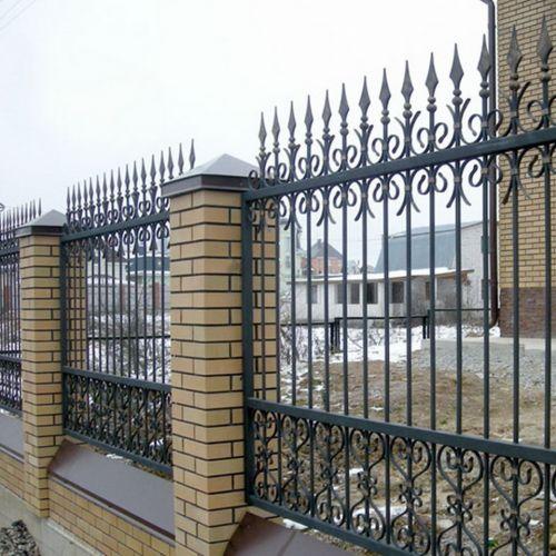 Кованый забор, ограда - 01.
