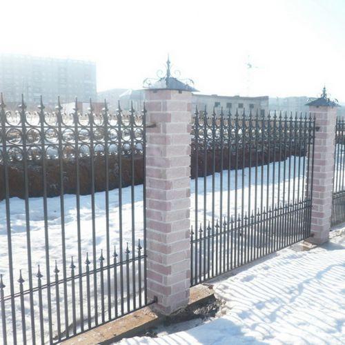 Кованый забор, ограда - 03.