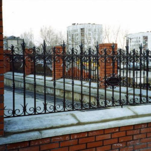 Кованый забор, ограда - 04