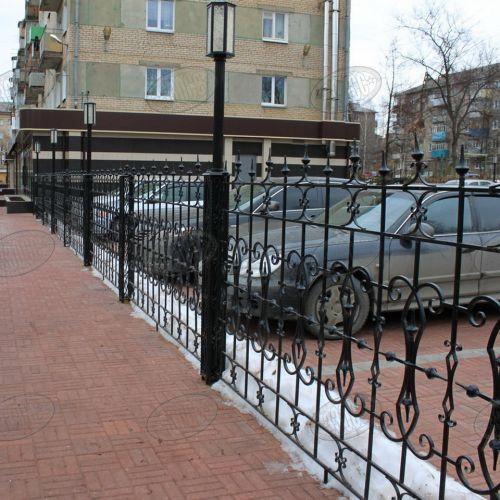 Кованый забор, ограда - 05.