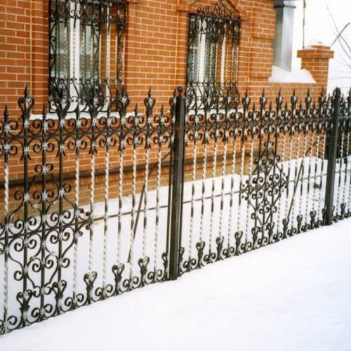 Кованый забор, ограда - 08.