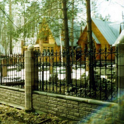 Кованый забор, ограда - 10.