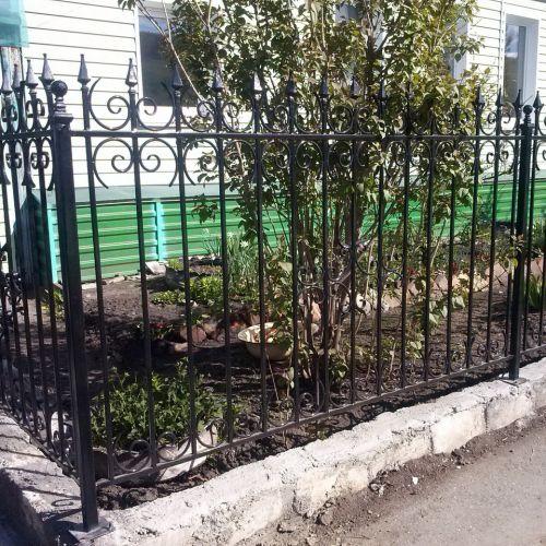 Кованый забор, ограда - 11.