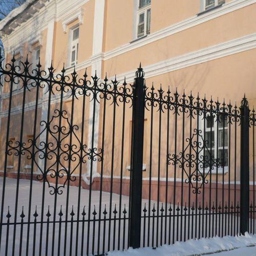 Кованый забор, ограда - 12.