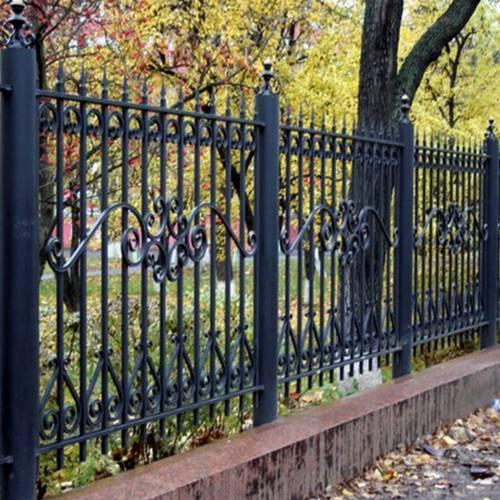 Кованый забор, ограда - 14