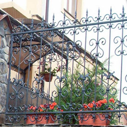 Кованый забор, ограда - 15