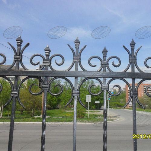 Кованый забор, ограда - 16.