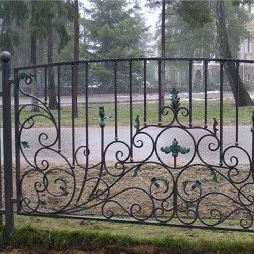 Кованый забор, ограда - 19.