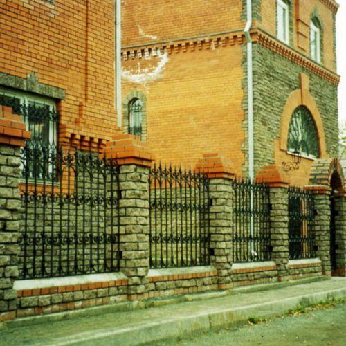 Кованый забор, ограда - 20.
