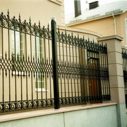 Кованый забор, ограда - 21.