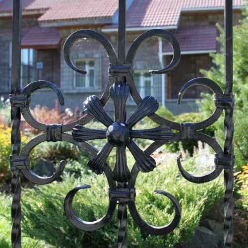 Кованый забор, ограда - 23.