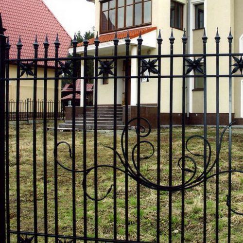 Кованый забор, ограда - 24.
