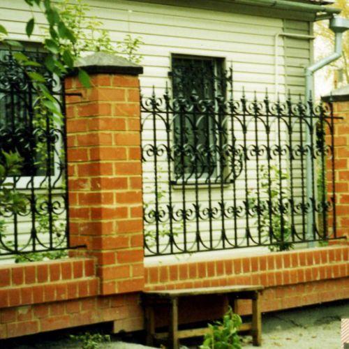 Кованый забор, ограда - 25.