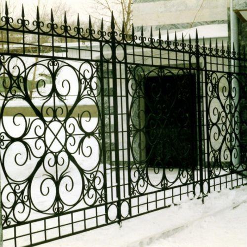Кованый забор, ограда - 27.