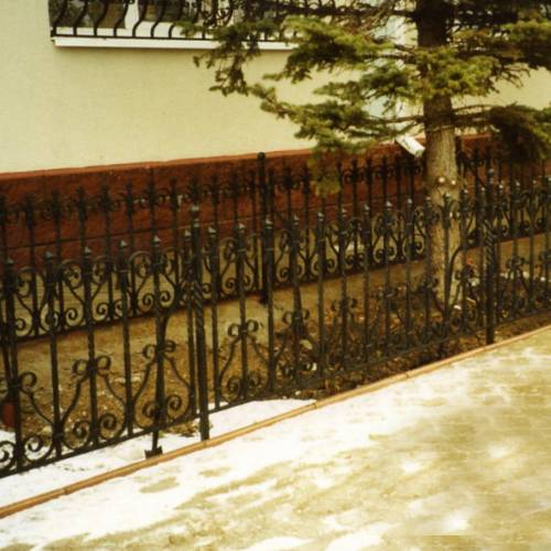 Кованый забор, ограда - 34.
