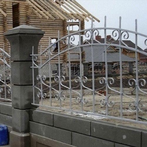 Кованый забор, ограда - 35.