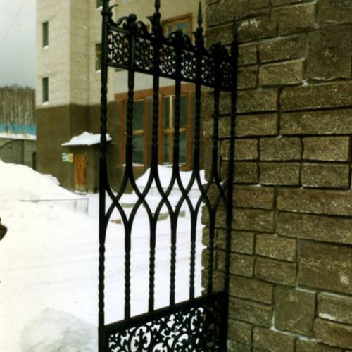 Кованый забор, ограда - 41.