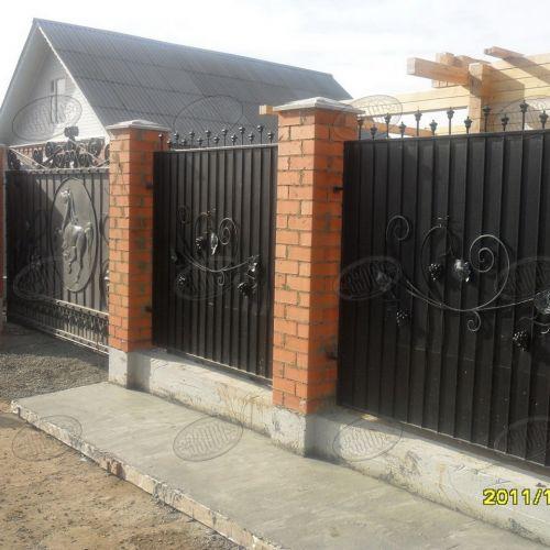 Кованый забор, ограда - 42.