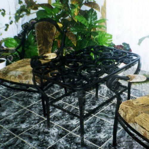 Кованый стол и стулья - 01.