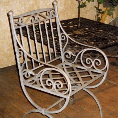 Кованый стол и стулья - 02.