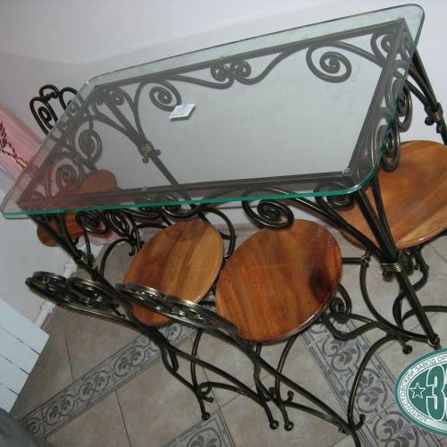 Кованый стол и стулья - 03.