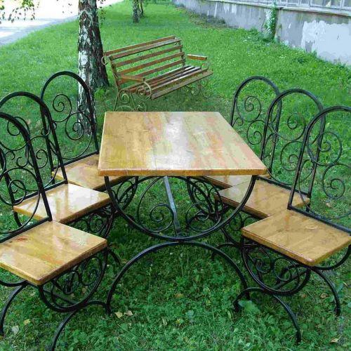 Кованый стол и стулья - 05.