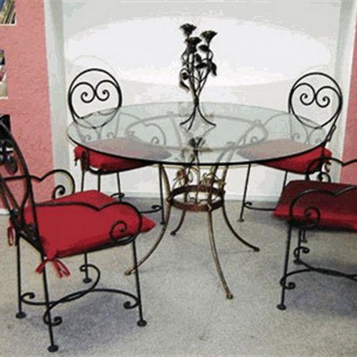 Кованый стол и стулья - 06.