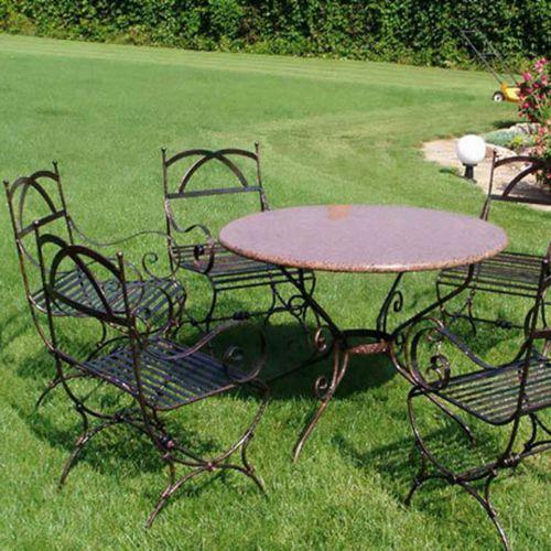 Кованый стол и стулья - 09.