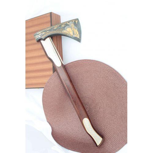 Топор «Викинг», сталь У10А-7ХНМ, рукоять орех
