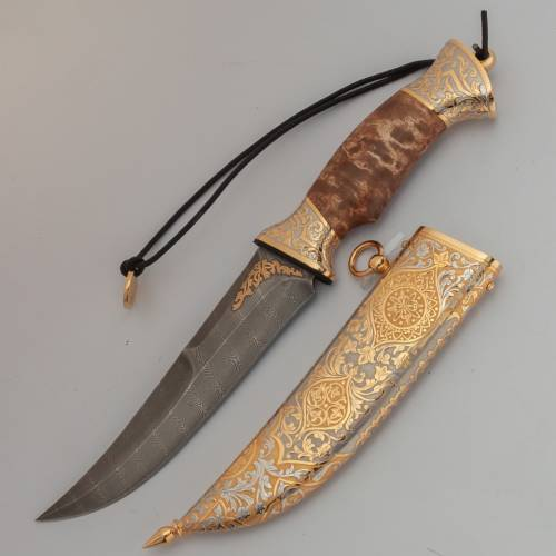 Нож украшенный «Брусничный край» Н69