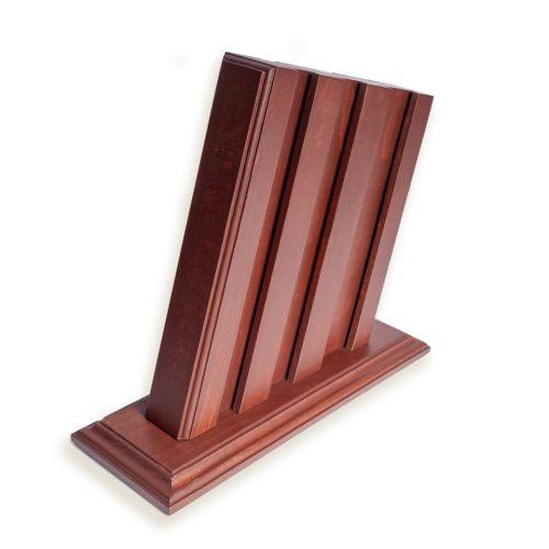 Набор кухонных ножей из 6 штук, сталь 95х18, рукоять текстолит, орех