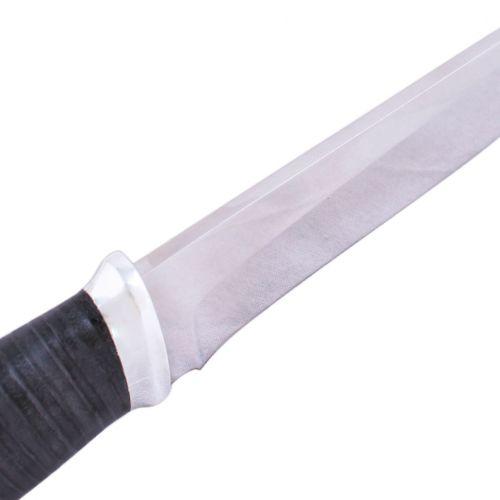 Нож охотничий, туристический «Рыцарь» Н1, сталь ЭИ-107, рукоять: дюраль, кожа