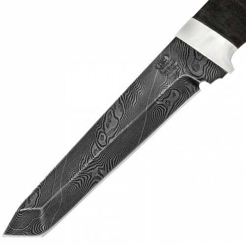 Нож охотничий, туристический «Телохранитель» Н10, сталь нержавеющий дамаск (40Х13-Х12МФ1), рукоять: дюраль, микропористая резина