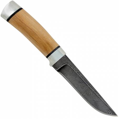 Нож охотничий, туристический «Тифлис» Н14, сталь нержавеющий дамаск (40Х13-Х12МФ1), рукоять: дюраль, орех