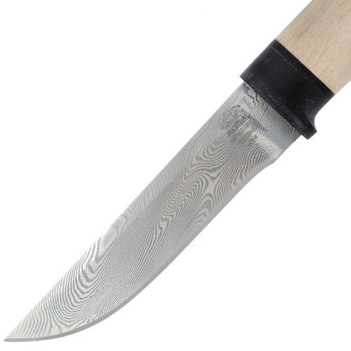 Нож охотничий, туристический «Тифлис» Н14, сталь контрастный дамаск (65Г-Х12МФ1), рукоять: текстолит, орех