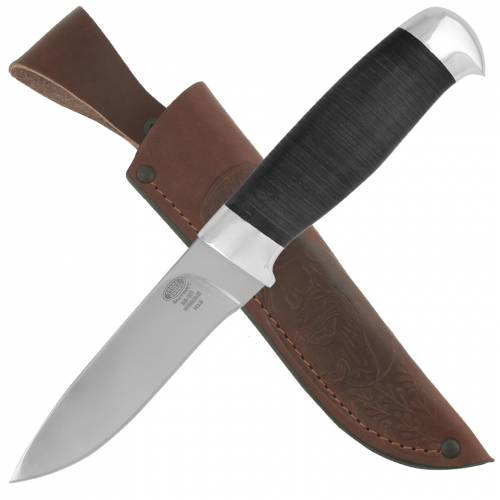 Нож охотничий, туристический «Царевич» Н15, сталь ЭИ-107, рукоять: дюраль, кожа наборная