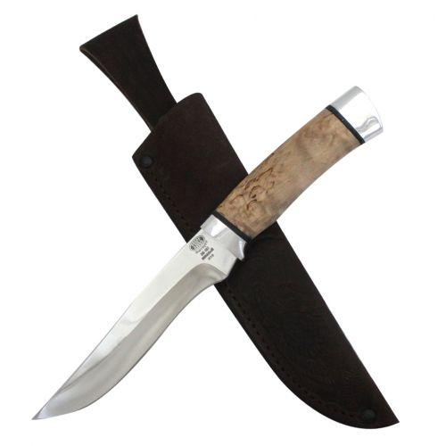 Нож охотничий, туристический «Егерь» Н16, сталь ЭИ-107, рукоять: дюраль, карельская береза