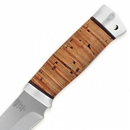 Нож охотничий, туристический «Мичман» Н1Т, сталь ЭИ-107, рукоять: дюраль, береста